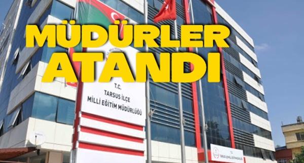 Tarsus'ta Müdür Ataması yapıldı
