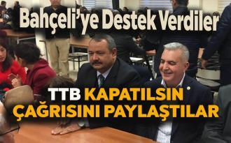 Bahçeli TTB kapatılsın çağrısına Tarsus'tan destek!
