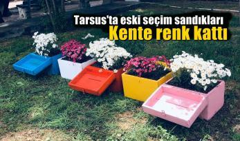 Tarsus'ta seçim sandıkları kente renk kattı