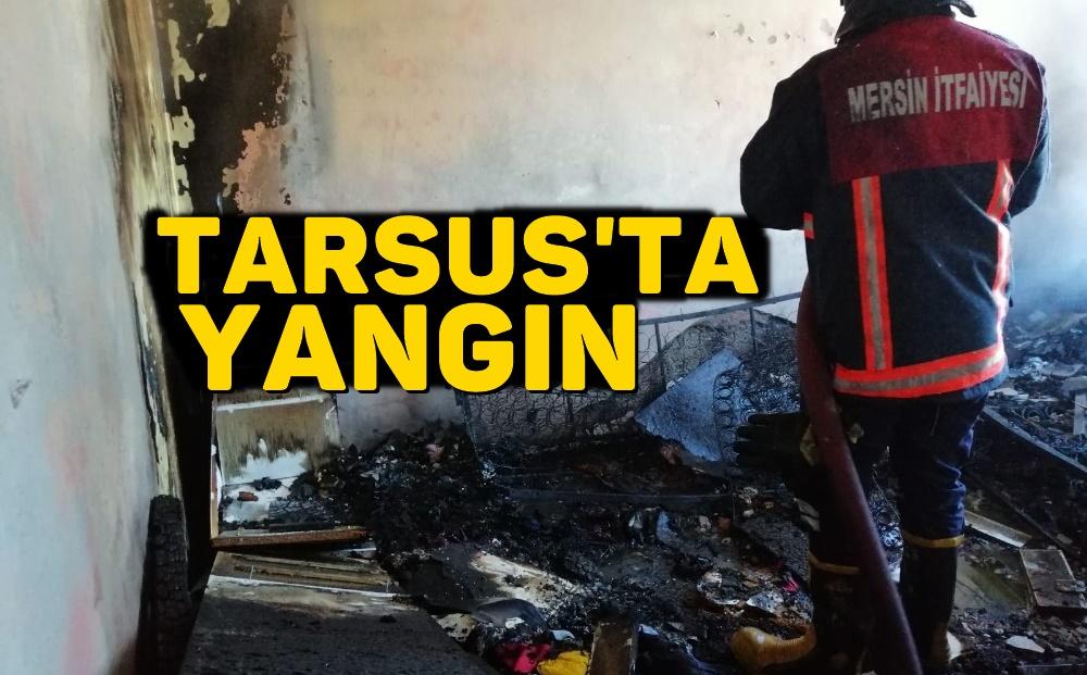 Tarsus'ta korkutan yangın.