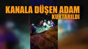 Tarsus'ta sulama kanalına düşen adam kurtarıldı