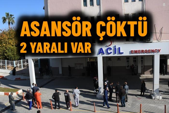 Tarsus'ta asansör düştü 2 kişi yaralandı
